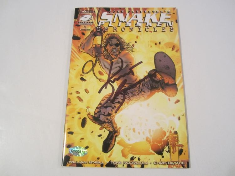 Kurt Russell Snake Plissken Chronicles Hand Signed Autographed Comic Book COA