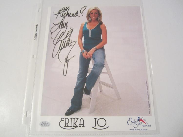 Erika Jo Hand Signed Autographed 8x10 Promo Photo COA