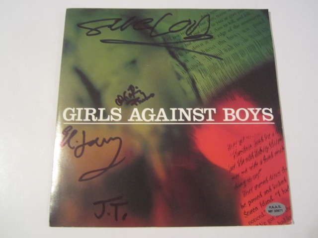Girls Against Boys Hand Signed Autographed Picture Sleeve COA