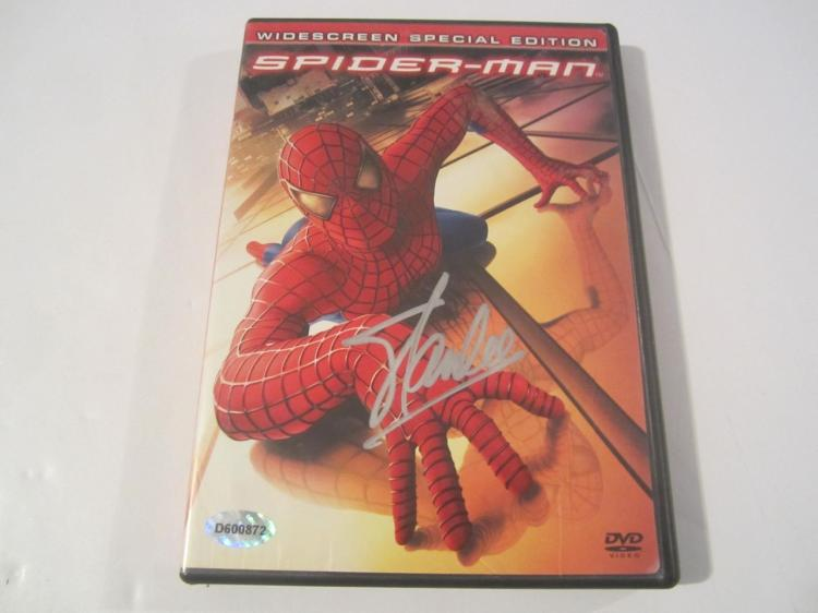 "Stan Lee ""Spider Man"" Hand Signed Autographed DVD Cover COA"
