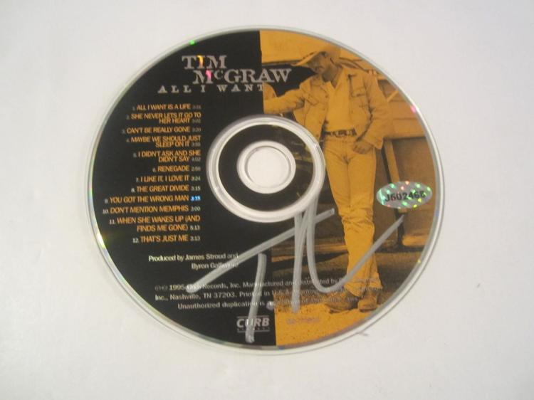 Tim McGraw All I Want Hand Signed Autographed CD COA