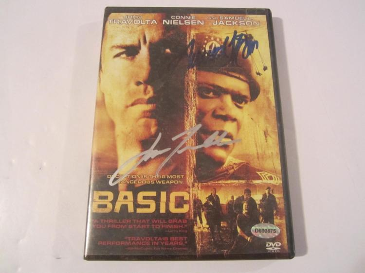 "John Travolta ""Basic"" Hand Signed Autographed DVD Cover COA"