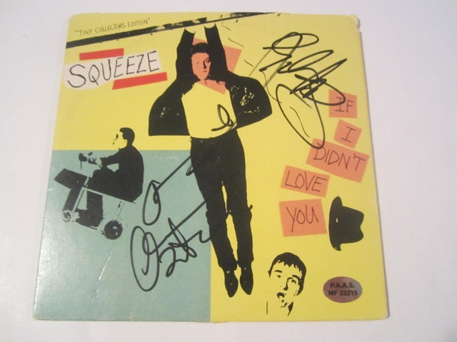 Squeeze If I Didn't Love You Hand Signed Autographed Record Cover COA