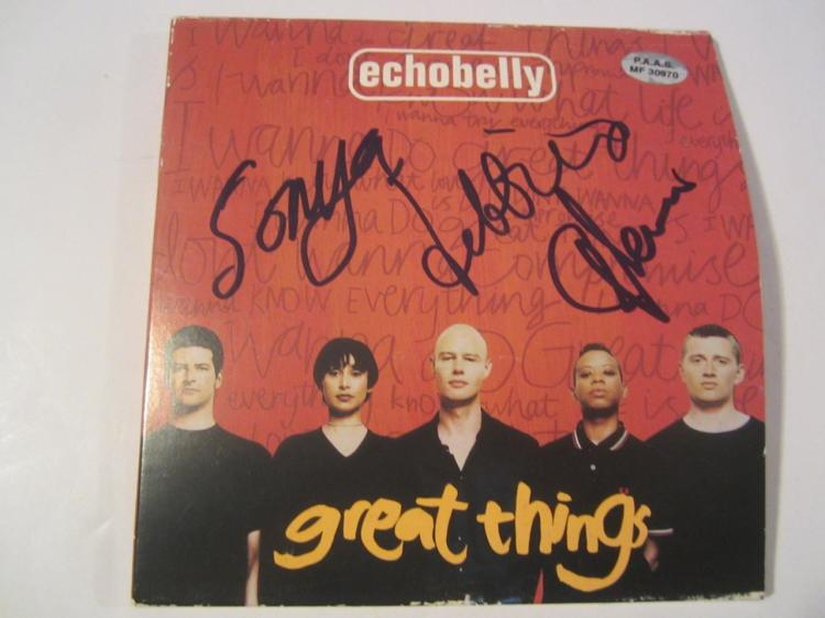 Echobelly Hand Signed Autographed CD Cover COA