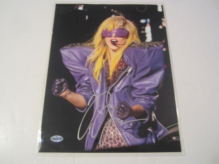 Lady Gaga Hand Signed Autographed 8x10 Photo COA