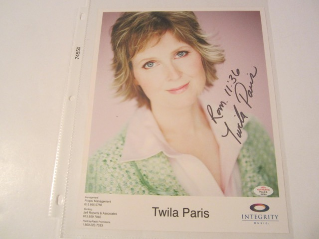 Twila Paris Hand Signed Autographed Promo 8x10 Photo COA