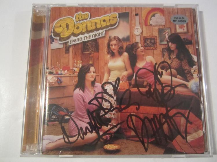 "The Donnas ""Spend the Night"" Hand Signed Autographed CD Cover COA"
