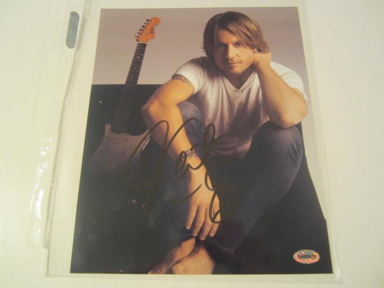 Keith Urban Hand Signed Autographed 8x10 Photo COA