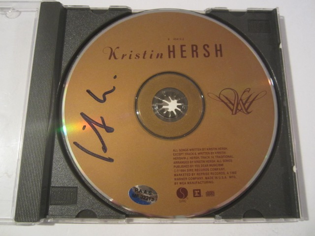 Kristin Hersh Hand Signed Autographed CD COA