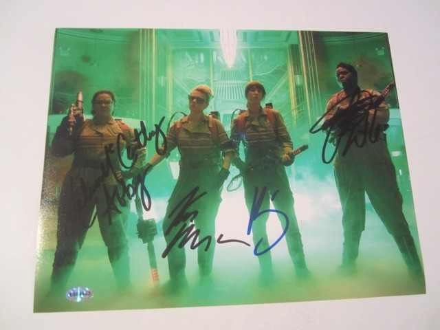 Ghostbusters Melissa McCarthy/Kate McKinnon/Leslie Jones/Kristen Wiig 8x10 Photo COA