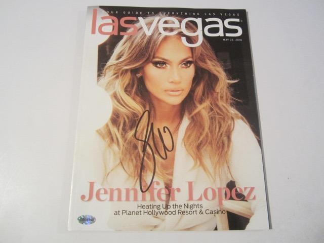 Jennifer Lopez signed autographed Las Vegas Guide Magazine COA