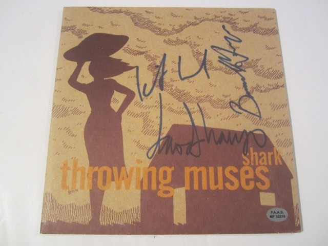 Shark Throwing Muses Hand Signed Autographed Record Cover COA