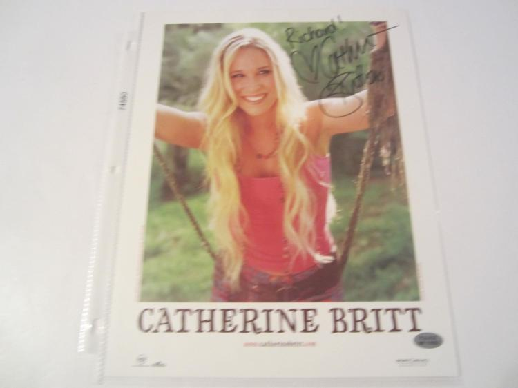 Catherine Britt Hand Signed Autographed 8x10 Photo COA