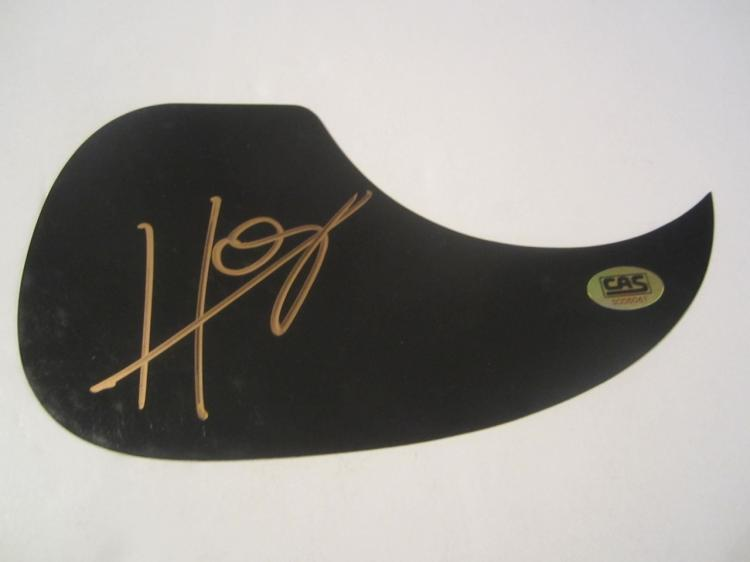 Hunter Hayes Hand Signed Autographed Black Pick Guard COA