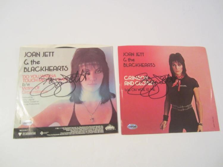 Joan Jett and the Black Hearts Hand Signed Autographed CD Covers COA