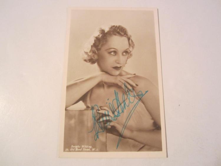 Binnie Hale Hand Signed Autographed Photo postcard COA