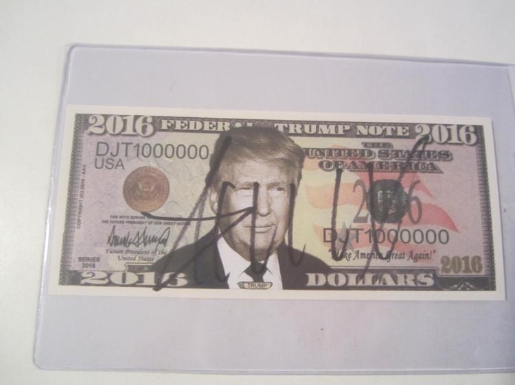 Donald Trump Hand Signed Autographed Bill COA
