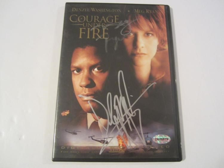 Denzel Washington Courage Under Fire Hand Signed Autographed DVD Cover COA