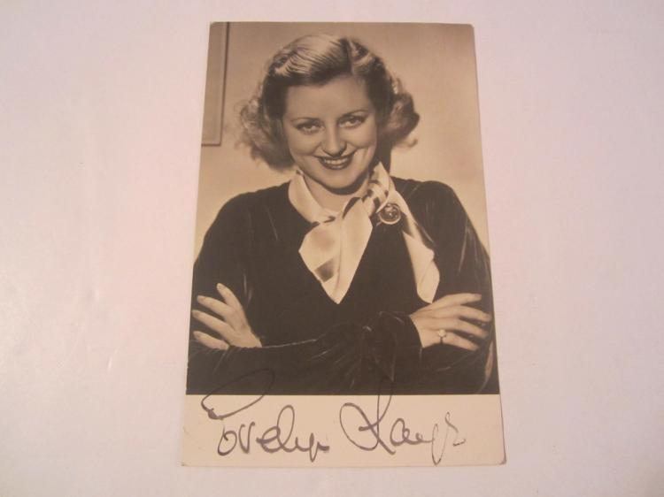 Evelyn Laye Hand Signed Autographed Vintage 3x5 card COA