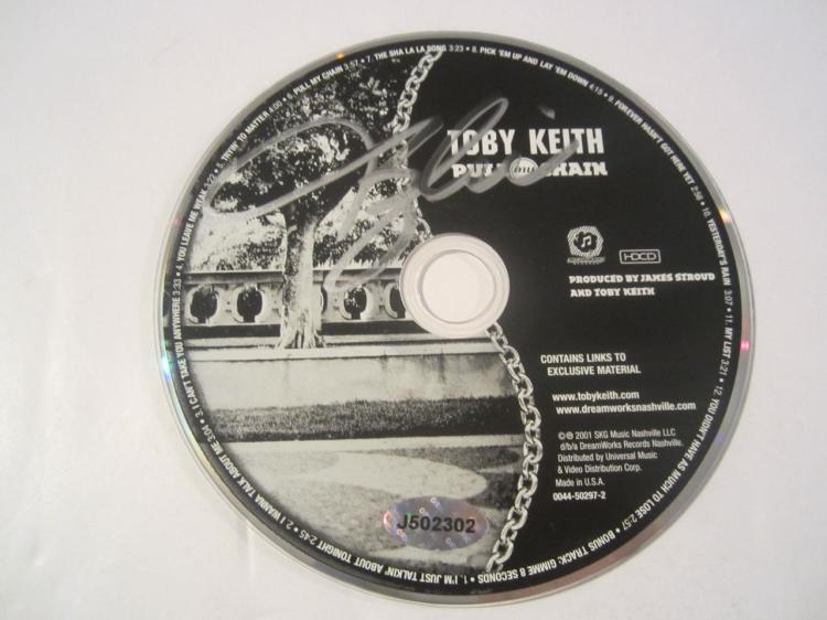 oby Keith Pull My Chain Hand Signed Autographed CD COA