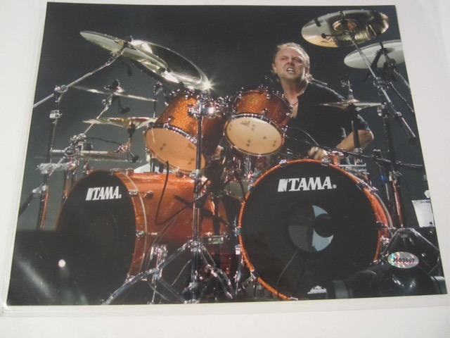 Lars Ulrich Metallica Hand Signed Autographed 8x10 Photo COA