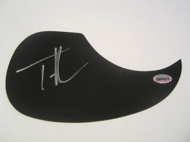 Tim McGraw Hand Signed Autographed Pick Guard COA
