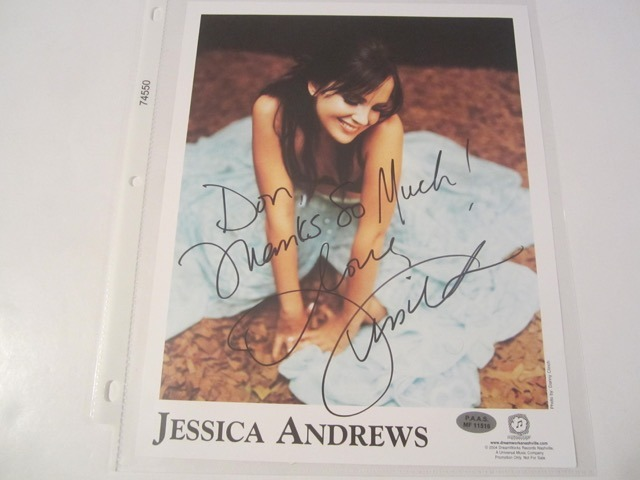 Jessica Andrews Hand Signed Autographed Promo 8x10 Photo COA