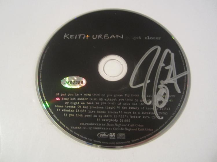 Keith Urban Hand Signed Autographed CD COA