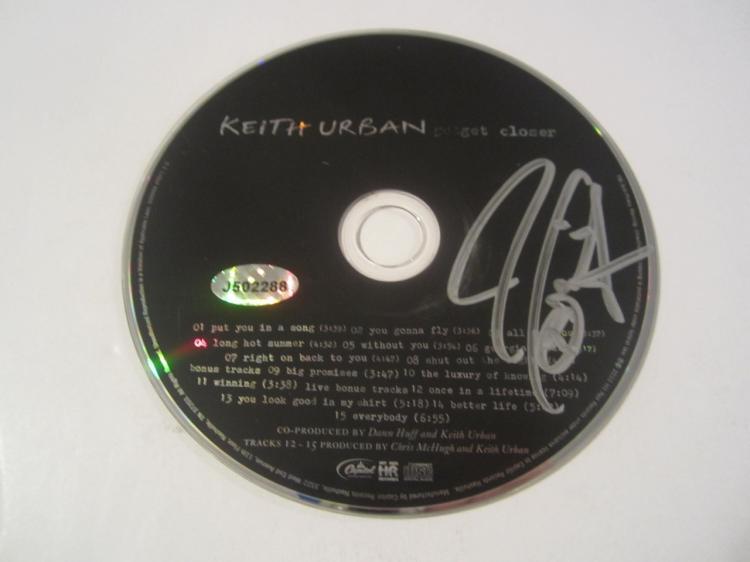 Keith Urban Hand Signed Autographed CD COA