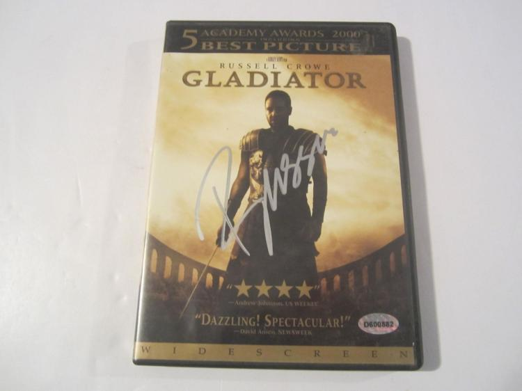 "Russell Crowe ""Gladiator"" Hand Signed Autographed DVD Cover COA"
