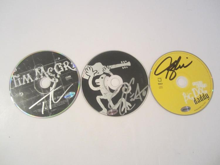 Tim McGraw/Keith Urban/Toby Keith Hand Signed Autographed CD's COA