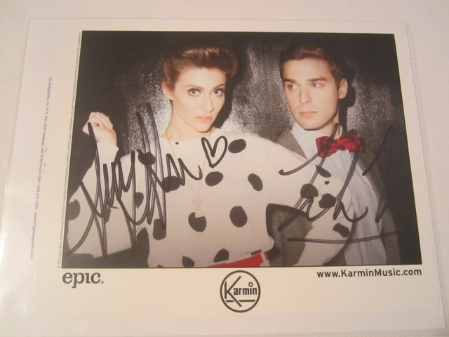 Karmin Hand Signed Autographed Promo 8x10 Photo COA
