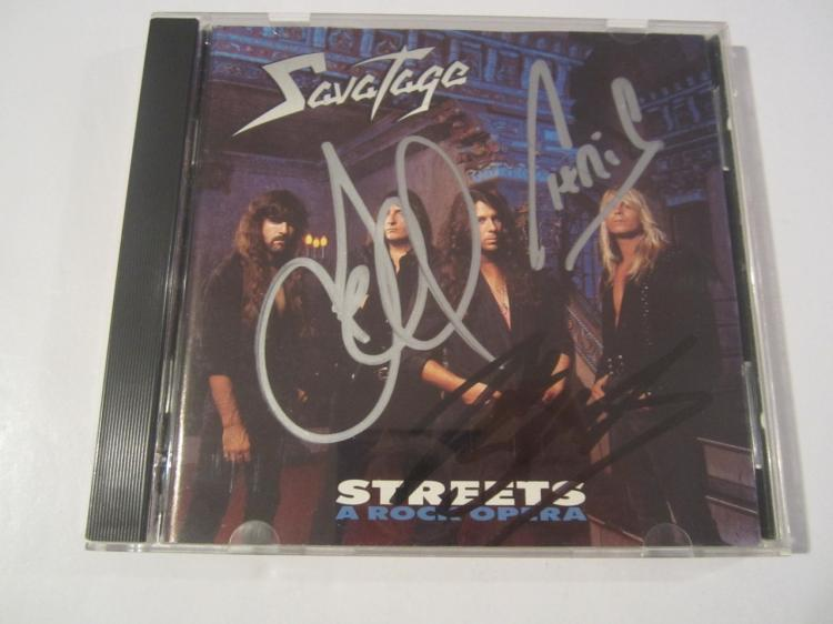 Savatage Streets A Rock Opera Hand Signed Autographed CD Cover COA