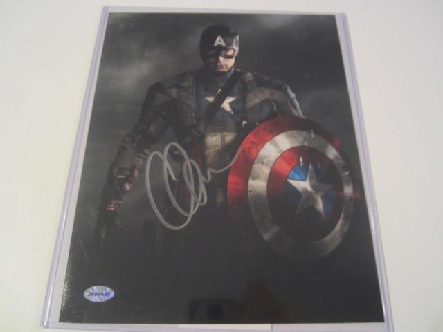 Chris Evans Hand Signed Autographed 8x10 Photo COA