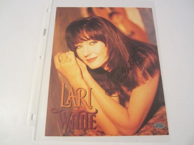 Lari White Hand Signed Autographed Promo 8x10 Photo COA