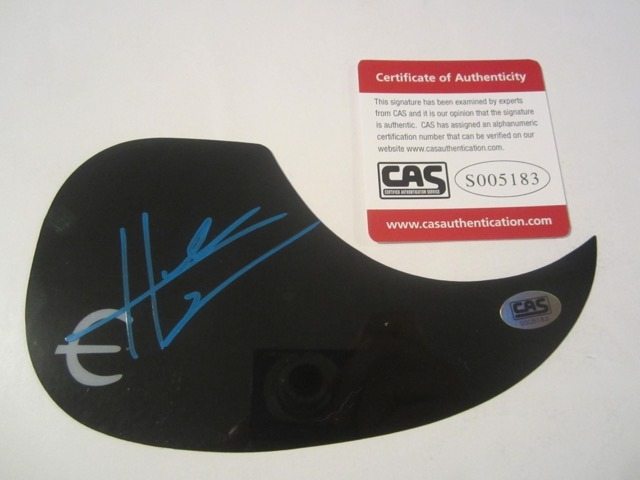 Hunter Hayes Hand Signed Autographed Pick Guard COA