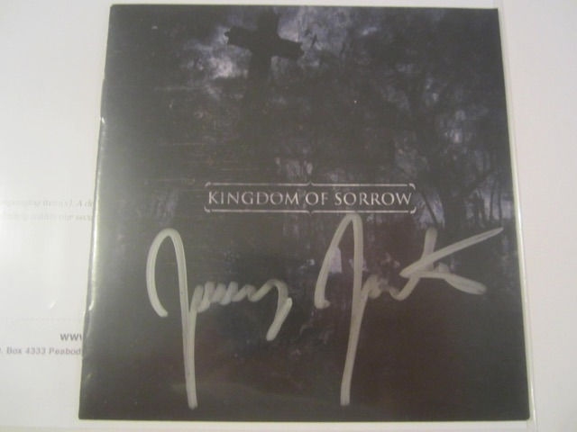 Kingdom of Sorrow Hand Signed Autographed CD Cover COA