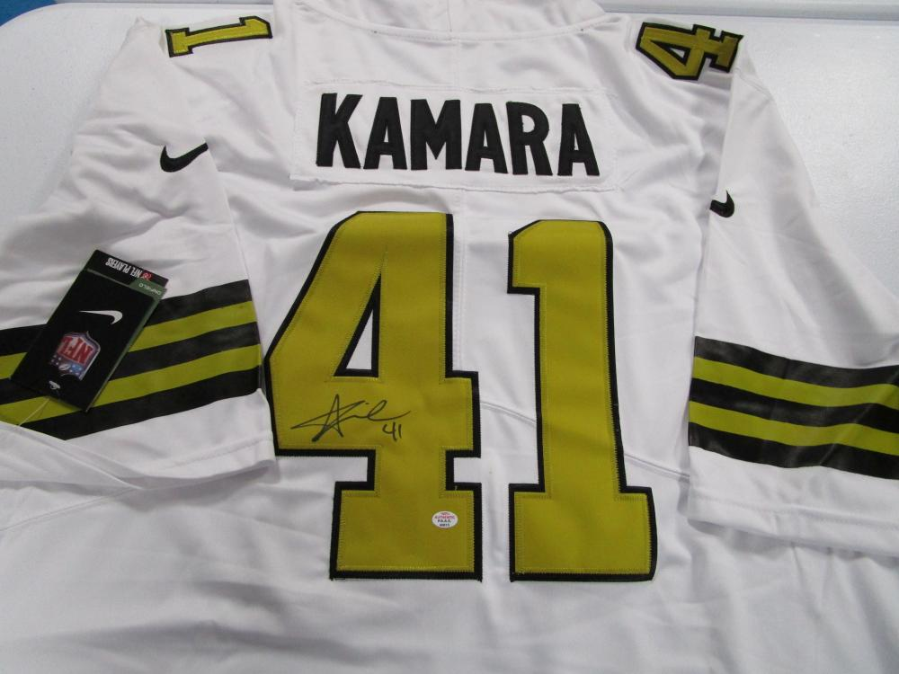 info for f9ecd 75222 Alvin Kamara New Orleans Saints signed autographed white ...
