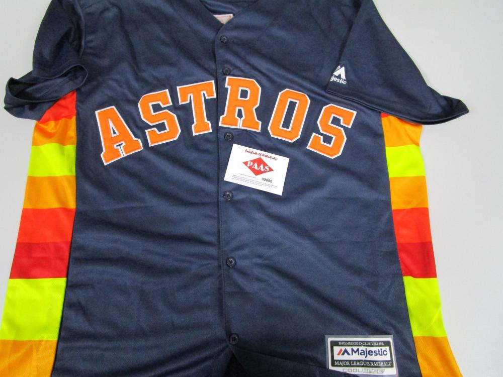 hot sale online 4667c b6130 Carlos Correa of the Houston Astros signed autographed blue ...