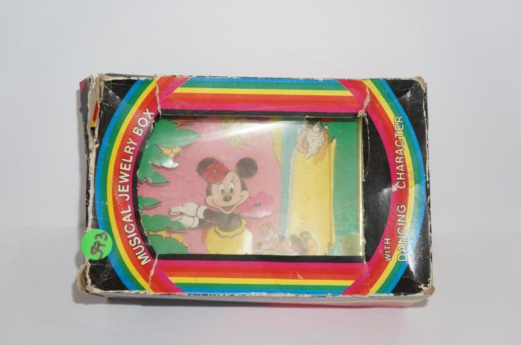 Minnie mouse musical jewelry box with dancing character for Minnie mouse jewelry box