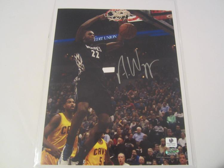 Andrew Wiggins Minnesota Timberwolves Hand Signed autographed 8x10 color photo GAI GX COA
