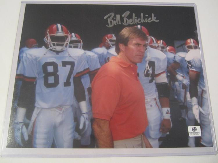 Bill Belichick Cleveland Browns Hand Signed autographed 8x10 color photo GAI GX COA