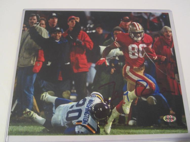 Jerry Rice, San Francisco 49ers Hand Signed autographed 8x10 AI COA