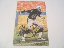 Willie Brown Oakland Raiders HOF Signed Autographed Goal Line Art Card COA