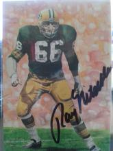 Ray Nitschke Green Bay Packers HOF Signed Autographed Goal Line Art Card COA