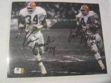 BYNER and MACK Cleveland Browns Hand Signed autographed 8x10 color photo GAI W COA