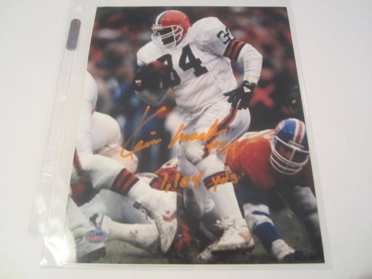 Kevin Mack Cleveland Browns Hand Signed autographed 8x10 SGC COA