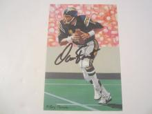 Dan Fouts San Diego Chargers Signed Autographed Goal Line Art Card GA COA