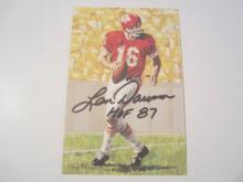 Len Dawson Kansas City Chiefs HOF Signed Autographed Goal Line Art Card GA COA