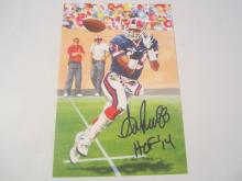 Andre Reed Buffalo Bills HOF Signed Autographed Goal Line Art Card COA